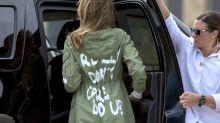Im Zentrum für Migrantenkinder: Melania Trump sorgt mit Jacke für Verwirrung