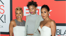 'Do you all ever age?': Jada Pinkett Smith, 47, and her mother, 64, flash abs in gym selfie with Willow