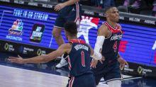 118-114. Westbrook gana duelo a Curry y los Wizards siguen imparables