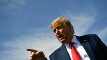 Trump calls for investigation of Biden, heads to key battleground