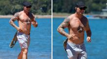 MAFS cheater Sam sweats off affair backlash during shirtless run