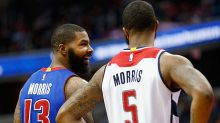 Marcus Morris hits a game-winning shot over his twin brother, Markieff Morris