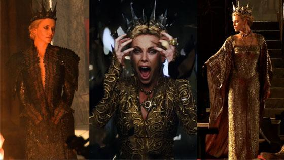 Charlize Theron reveals her snow white costumes