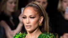 Jennifer Lopez Dazzles in Elaborate Wedding Dress in NYC