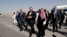 U.S. Secretary of State Mike Pompeo arrives in Riyadh to discuss Khashoggi case