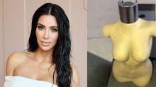 Kim Kardashian Unveiled Her Nude Body Bottle