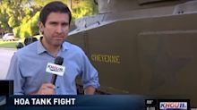 Hero lawyer exploits HOA loophole and parks his WWII tank on the street
