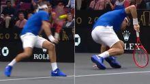 Roger Federer gets smashed by 'biggest body serve ever'