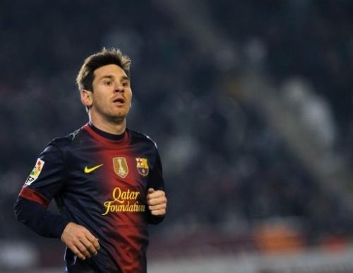 El argentino Lionel Messi durante un partido por la Copa del Rey el 12 de diciembre de 2012.