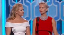 Golden Globes 2016: Jennifer Lawrence and Amy Schumer Showed How Totally BFFs They Are