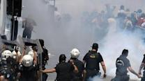 Raw: Police, Demonstrators Clash in Turkey