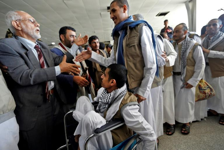 Freed Houthi prisoners return to Yemen