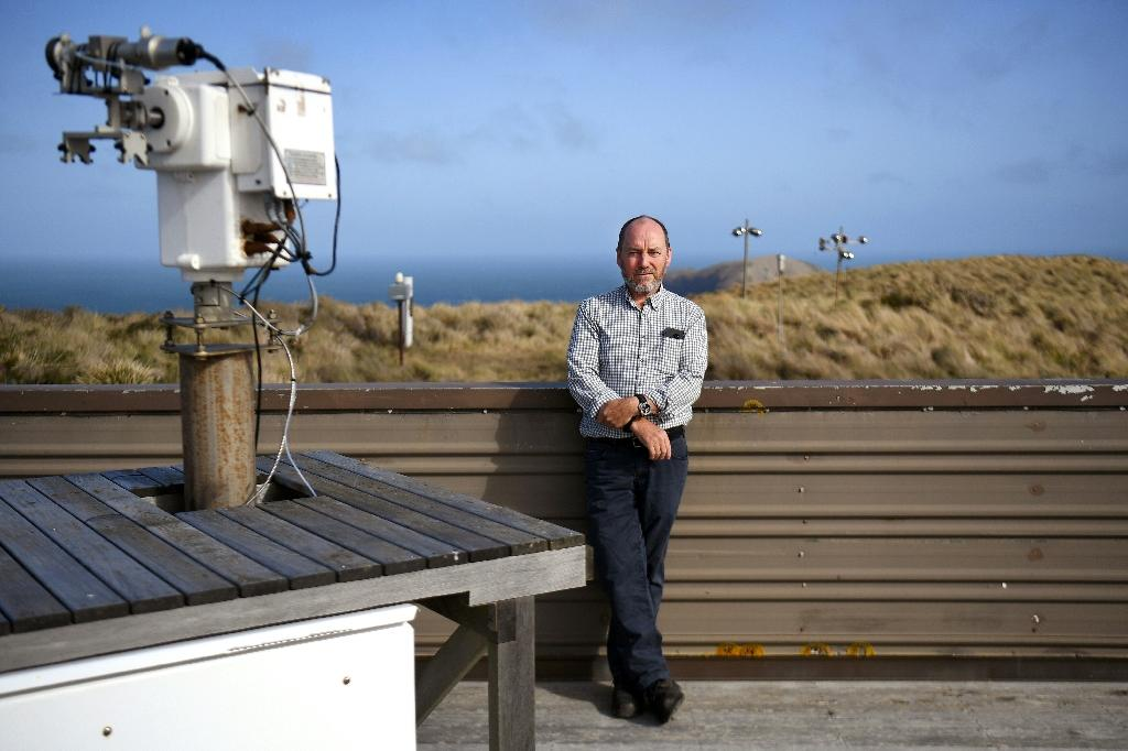 Sam Cleland is the officer in charge of the Cape Grim Baseline Air Pollution Station, a small Australian government facility with the seemingly eccentric task of bottling air (AFP Photo/William WEST)