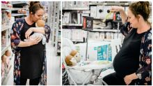 Kmart-obsessed woman's hilarious in-store maternity shoot
