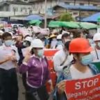 Anti-Military Protesters March in North Myanmar