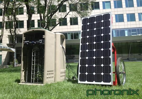48 PandaBoards chained together in solar-powered ARM cluster