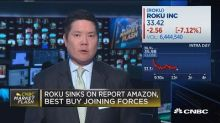 Roku sinks on report Amazon, Best Buy joining forces