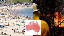 How Australian cities could be hit with 50C days