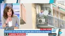 Ana Rosa Quintana salva en directo a un hombre que intentaba suicidarse