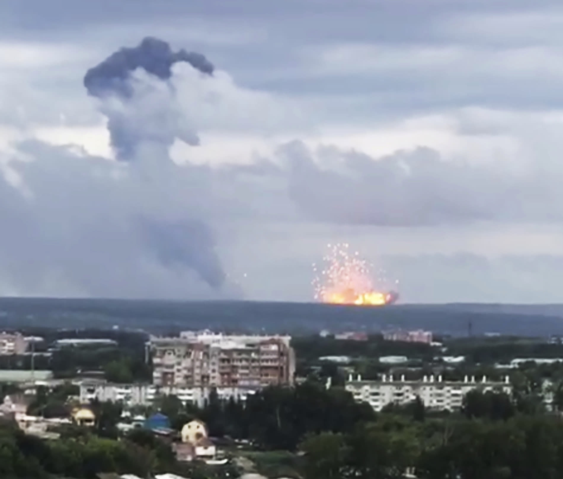 Massive explosion at Russian military depot sparks evacuation