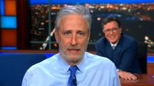 Jon Stewart pushes lab leak theory to skeptical Stephen Colbert: 'The disease is the same name as the lab!'