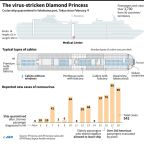 Diamond Princess: the quarantined cruise ship by the numbers