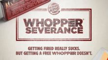 Win a free burger if you get fired