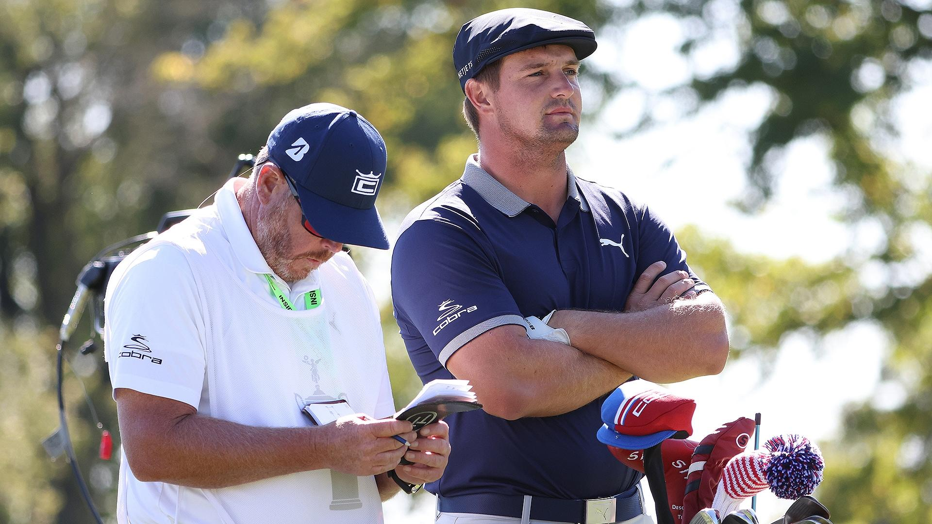 No fairways, no problem as DeChambeau continues to overpower Winged Foot
