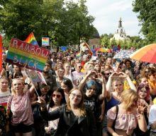 Polish Gay Pride marchers defy stone-throwing hooligans
