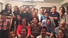 Kareena Kapoor Khan, Saif Ali Khan and Karisma Kapoor pose with the entire Kapoor khandaan