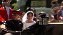 Prince Harry and Meghan Markle's royal wedding carriage procession