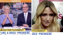 Sunrise hosts baffled by Aussie star's red carpet gaffe