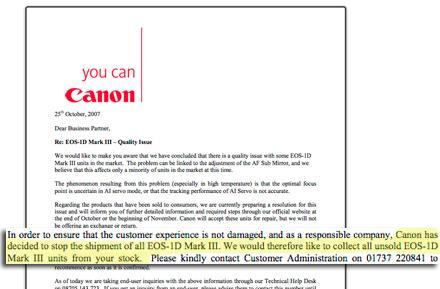 Canon pulling the EOS-1D Mark III from shelves?