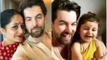 Neil Nitin Mukesh's Wife, Rukmini And Daughter, Nurvi Twin In Pink And Golden Ethnic Outfits