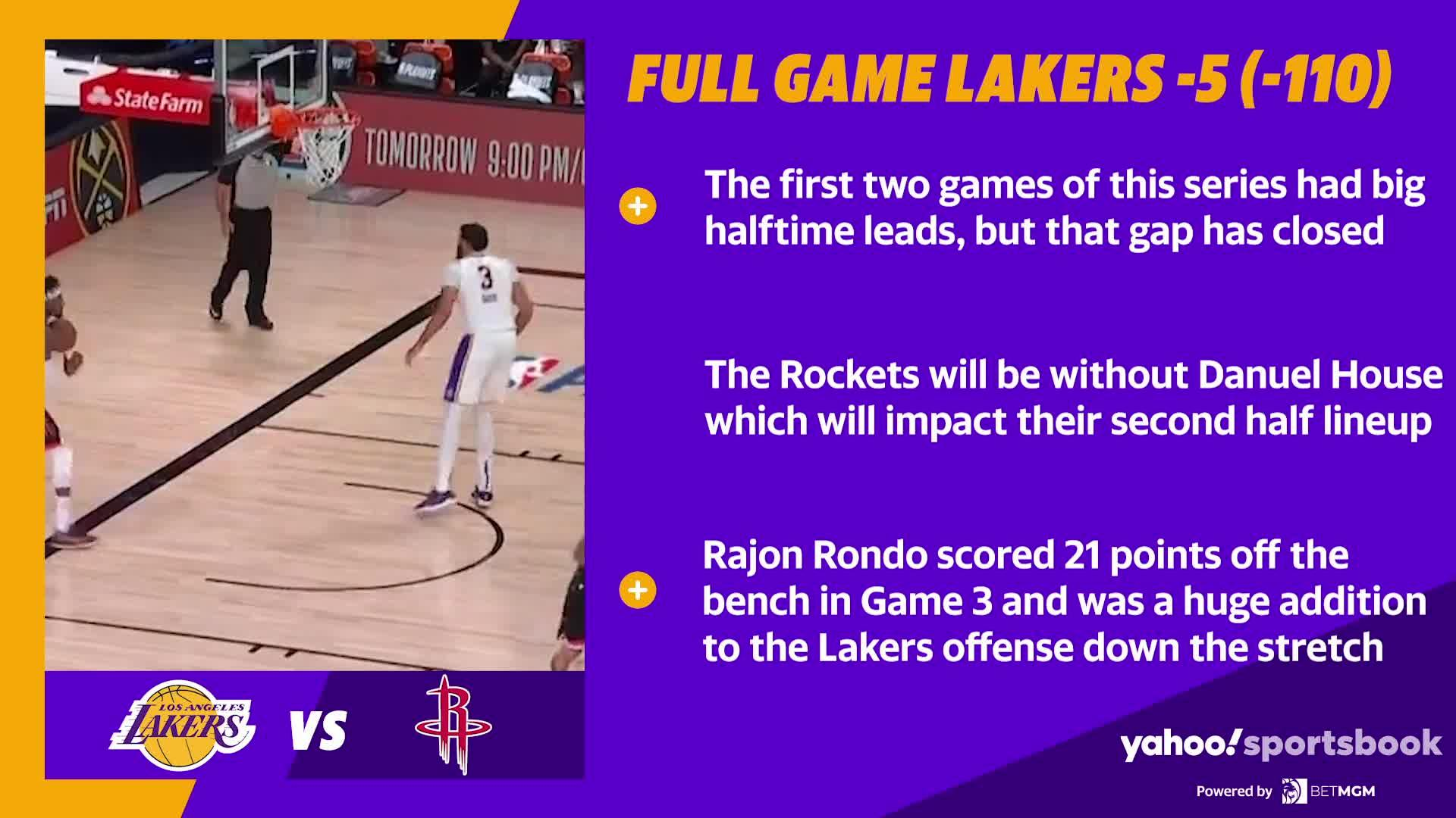 Lakers vs Rockets Game 4 best bets Video