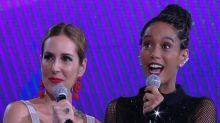 Taís Araújo se irrita com nova saia-justa no programa 'Popstar'