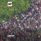 London protest against Israeli attacks on Gaza