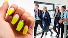 Parents complain after school bans pupils from wearing fake nails