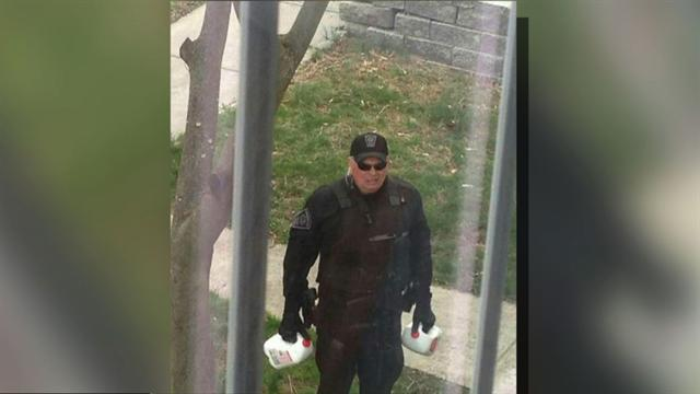 Boston cop delivers milk during Watertown lockdown