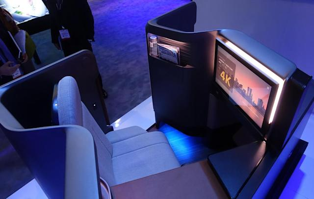 Panasonic's airline seat puts you in a high-tech cocoon