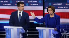 Amy Klobuchar blanks Pete Buttigieg and avoids shaking his hand at the end of Democratic debate