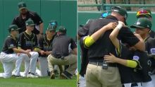 Aussie little league coach's touching moment after 15-0 thrashing