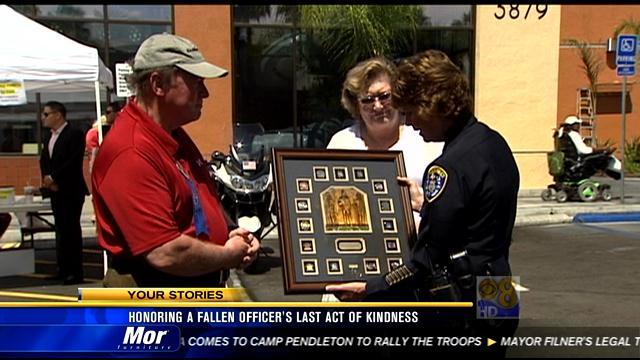 Honoring a slain officer's last act of kindness