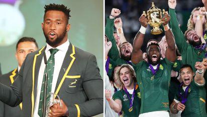 Springboks captain's inspirational award speech