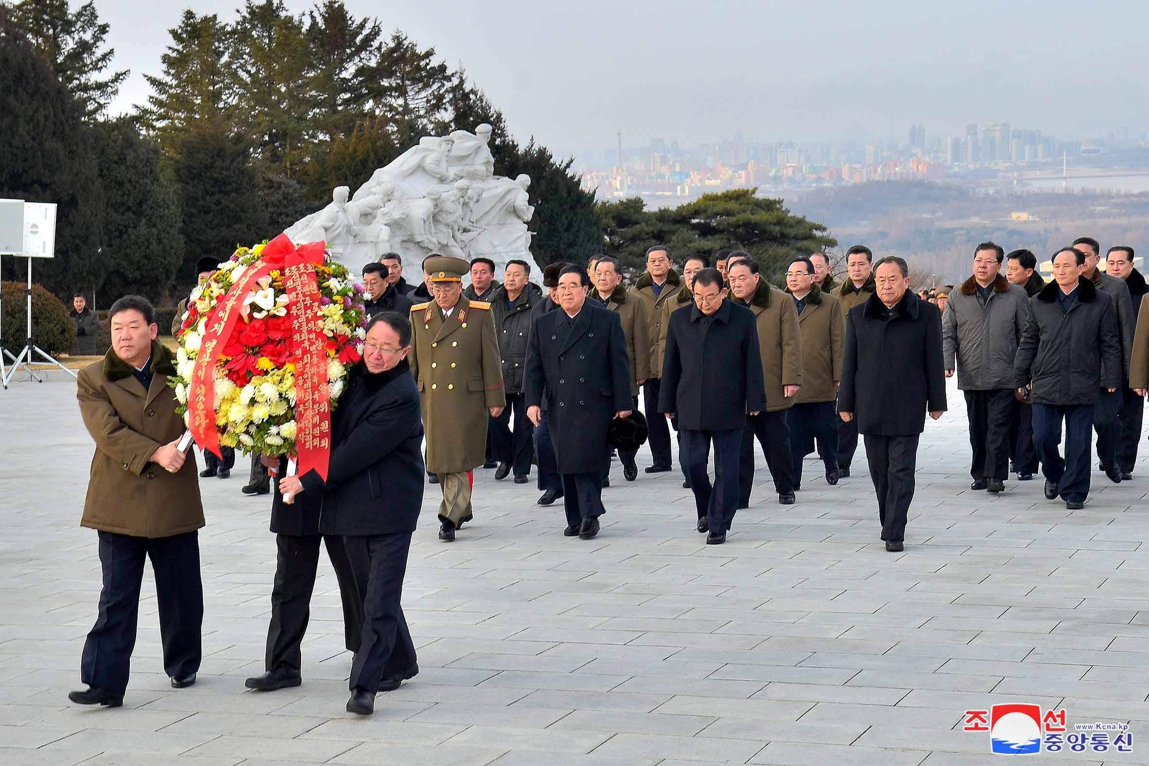 North Korea marks the 71st anniversary of the state's founding of the Korean People's Army (KPA) in Pyongyang, North Korea, in this KCNA photo released February 8, 2019. KCNA via REUTERS    ATTENTION EDITORS - THIS IMAGE WAS PROVIDED BY A THIRD PARTY. REUTERS IS UNABLE TO INDEPENDENTLY VERIFY THIS IMAGE. NO THIRD PARTY SALES. SOUTH KOREA OUT. NO COMMERCIAL OR EDITORIAL SALES IN SOUTH KOREA.