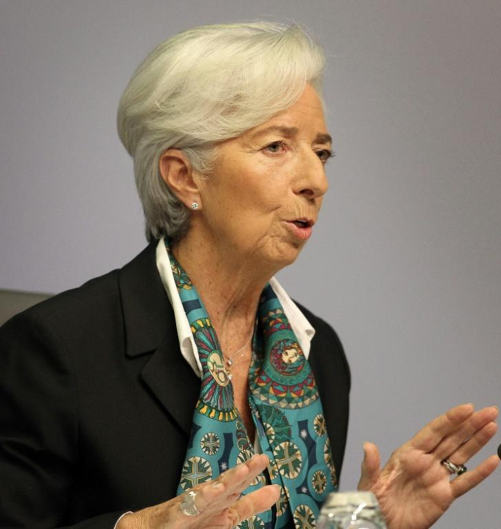 'Some initial signs of stabilisation in the growth slowdown': Lagarde already seems comfortable with central bank speak (AFP Photo/Daniel ROLAND)