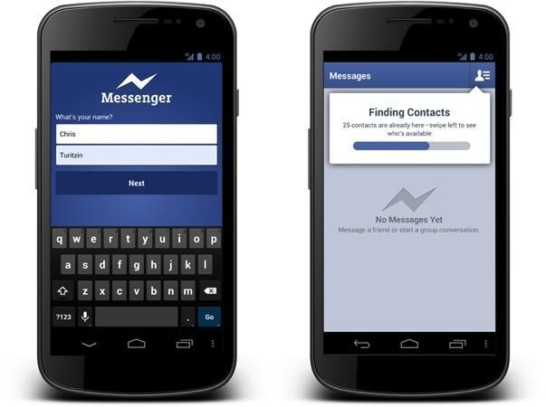 Facebook Messenger allows sign-ups with just a name and phone number on Android devices