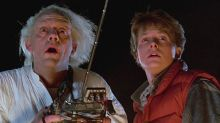 Back To The Future legends Michael J. Fox and Christopher Lloyd reunite at Parkinson's charity bash
