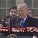 President Trump: Calling on Senate to pass abortion law