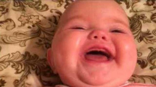 Baby Laughs at Daddy Saying 'Arigato'